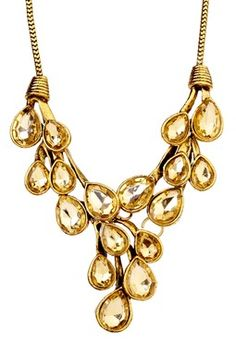 Topaz Crystal Statement Necklace