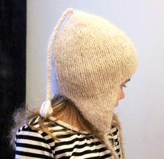 Peru hat / Ear flap hat alpaca / Earflap hat / Alpaca hat / Peruvian hat / Kids winter / Girls hat / Toddler hat / Pixie hat / Beige hat