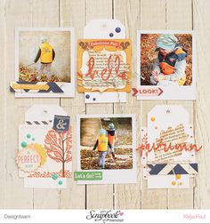 "Scrapbook inspo. The design. But I wouldn't do an ""autumn""-themed page."