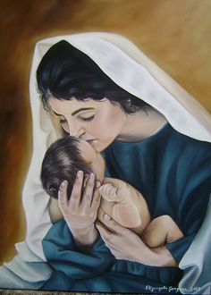 releitura - Liz Lemon Swindle - pintura em tela - painting on canvas Mother And Baby Images, Mother And Baby Paintings, Mother And Child, Pictures Of Christ, Mom Pictures, Blessed Mother Mary, Blessed Virgin Mary, Catholic Art, Religious Art