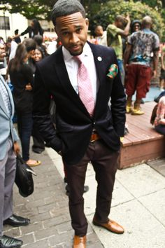 Educated, Ambitious, Well-dressed black man. Go on brother man!