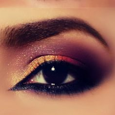 Colorful Arabic Makeup...love this...wish I could get way with this!
