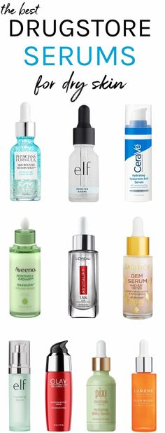 The best drugstore serums for dry skin - Skin care . Winter labor begin! The best drugstore serums for dry skin - Skin care . Winter labor begin! The best drugstore serums for dry skin - Skin care . Skin Care Regimen, Skin Care Tips, Makeup Tips Dry Skin, Beauty Hacks Dry Skin, Skin Tips, Serum For Dry Skin, Dry Skin On Face, Moisturizer For Dry Skin, Best Foundation For Dry Skin