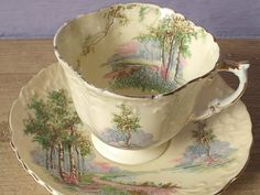 antique English tea cup and saucer set  vintage by ShoponSherman,