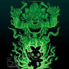 The Grass Gorilla Within Anime & Manga Poster Print Pokemon Vs Digimon, Cool Pokemon Cards, Pokemon Starters, Day Of The Shirt, Cute Pokemon Wallpaper, Eevee Evolutions, Cute Pikachu, Fanart, Pokemon Pictures