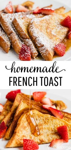 French Toast - Fluffy brioche bread dipped in a vanilla and cinnamon mixture to make perfectly golden french toast. Say goodbye to soggy french toast for good with this easy recipe! #frenchtoast #breakfast #breakfastrecipes #brunch #brunchrecipes #homemade #easyrecipe #easybreakfast #recipes #iheartnaptime