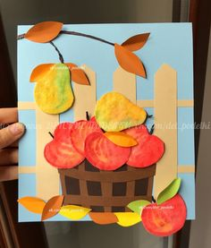 Fall crafts for kids apple basket in the garden Paper fall crafts for kids apple basket in the garden Cheap Fall Crafts For Kids, Easy Fall Crafts, Summer Crafts, Kids Crafts, Art For Kids, Diy And Crafts, Paper Crafts, Fall Art Projects, Classroom Art Projects