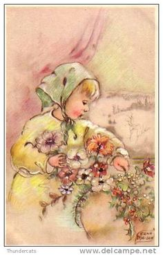 Vintage Postcards, Vintage Images, Victorian Crafts, Pintura Country, Vintage Greeting Cards, Vintage Children, Beautiful Images, Illustration Art, Decoupage