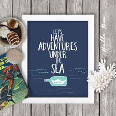 Inspirational quote, inspirational poster, life quotes, wall art, typography, quotes for children, calligraphy, sea JPEG -INSTANT DOWNLOAD