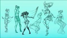 Danica Sills - Character Designs 1