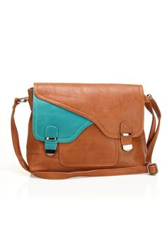 NU-G Messenger Bag In Brown >> Love this bag, $35