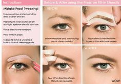 Using Press-o, fill-in Stencils - #eyebrowtutorial  #fillinbrows