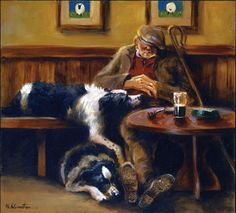 Border Collie Art Prints- Mick Cawston - They never give up on us, Thank God .