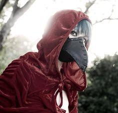Pestis Riveted Plague Doctor half mask in Black von TomBanwell, $89,00