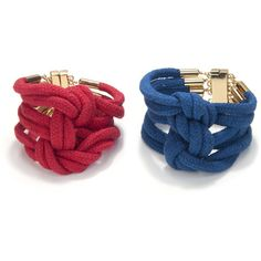 Sequin Rope Knot Bracelet ($27) ❤ liked on Polyvore