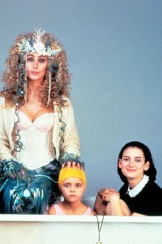 Cher, Christina Ricci and Winona Ryder in Mermaids, 1990