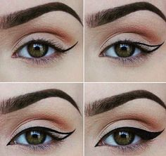 Ladies does your liquid eyeliner do this? If not let me suggest the oops liner! Tyra's got your back with Oops Liner: A double-sided pen with black liquid eyeliner on one side and makeup corrector on Makeup Goals, Makeup Inspo, Makeup Inspiration, Makeup Tips, Eye Makeup, Beauty Makeup, Hair Makeup, Make Up Guide, How To Make