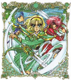 CLAMP, Magic Knight Rayearth, Magic Knight Rayearth Illustrations Collection, Fuu Hououji, Umi Ryuuzaki