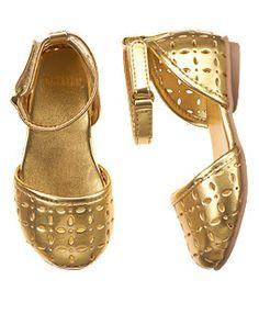 Cut-Out Metallic Sandal
