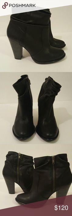 Harley Davidson Stonebrook ankle boots Black leather ankle boots. Side zip. Harley-Davidson Shoes Ankle Boots & Booties