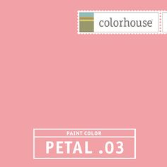 Colorhouse PETAL .03: A contemporary twist on pink. Could be a fun, unexpected bedroom or bath color - or be bold and put it in your dining room with rich chocolate brown fabrics. This is a hue that shows a lot of confidence.