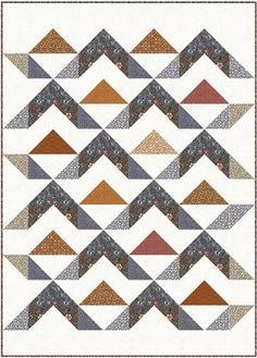 Triangle Quilt Pattern, Half Square Triangle Quilts, Square Quilt, Beginner Quilt Patterns, Modern Quilt Patterns, Quilt Block Patterns, Modern Quilting, Sewing Patterns, Modern Baby Quilts
