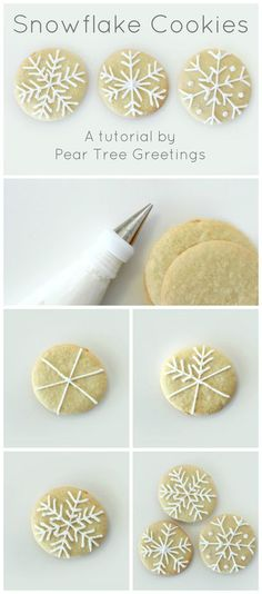 How To Make Snowflake Christmas Cookies - 17 Skillfully Decorated Christmas Cookies Which Will Spread Cheer Among Your Family christmas desserts creative Snowflake Christmas Cookies, Christmas Sweets, Christmas Cooking, Noel Christmas, Christmas Goodies, Holiday Cookies, Christmas Desserts, Holiday Treats, Family Christmas