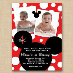 Mickey Mouse Printable Birthday Invitation by hellolovedesigns, $16.00