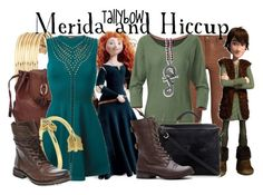 """""""Merida and Hiccup"""" by tallybow ❤ liked on Polyvore featuring мода, Merida, H&M, Brighton, Roberto Cavalli, Allurez, Steve Madden, MiH Jeans, The North Face и 3.1 Phillip Lim"""