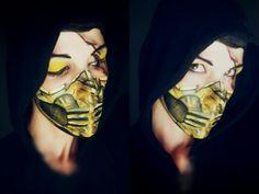 Scorpion X #mortalkombat #facepaint #scorpion #makeupart