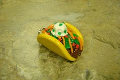 Loaded Taco Charm Polymer Clay Food Jewelry by CharmingCuisine, $8.00