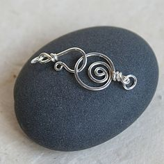 Spiral Sterling Silver Clasp & Hook, by funkyprettybeads on Etsy