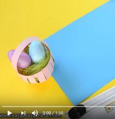 Un petit tutoriel vidéo pour vous aider à créer un panier pour Pâques.