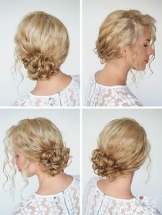 Hair Romance - 30 Curly Hairstyles in 30 Days - Day 1 - side bun