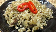 Jak uvařit pohanku s houbami a kyselým zelím
