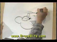 Draw Popeye with Bruce Blitz - YouTube
