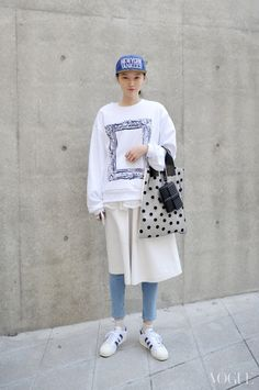 Streetstyle: Park Sujin at Seoul Fashion Week shot by Choi Seungjum