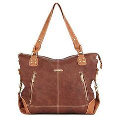 timi & leslie Kate 7 Piece Diaper Bag Set, Copper/Saddle