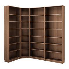 BILLY / OXBERG Bookcase, black-brown | Ikea billy, Wood veneer and ...