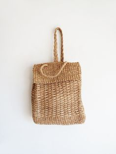 Woven Sling Backpack // Vintage Woven Purse SOLD