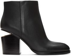 Alexander Wang Anna Rose Gold & Stretch-leather Sock Boots In 001 Black Cute Boots, Alexander Wang, Block Heels, Booty, Amazing, Leather, Dress, Accessories, Collection