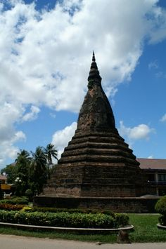 #Black Stupa in Laos by Edmund #travel #asia  We cover the world over 220 countries, 26 languages and 120 currencies hotel and flight deals.guarantee the best price multicityworldtravel.com