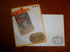 Handmade Vintage Style Halloween Card -Witches Halloween Spell via Etsy