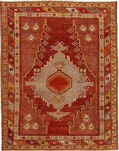 Product No: U-2946 Title: Vintage Oushak Rug Size: 4ft 04in X 5ft 06in Circa: 1940