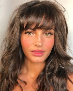 ridiculous medium length haircuts with bangs in 2019 8 Curly Hair Styles, Natural Hair Styles, Haircuts With Bangs, Haircut Bangs, Long Shag Haircut, Bangs Hairstyle, Long Haircuts, Hairstyle Short, Hair Updo