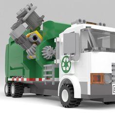 Garbage Collection, Lego Truck, Lego Mechs, Lego For Kids, Garbage Truck, Cool Lego Creations, Lego Models, Legoland, Lego City
