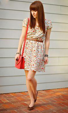 belted patterned dress