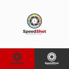 Speed shot logo template Premium Vector | Free Vector #Freepik #freevector #logo #business #template #camera Photography Logos, Logo Templates, Vector Free, Shots, Business, Store