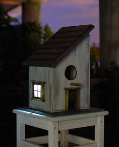 Solar Birdhouse with viewer.