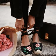 Full bloom. @soludos x Vogue espadrilles, limited edition only at soludos.com #adventurebeautifully